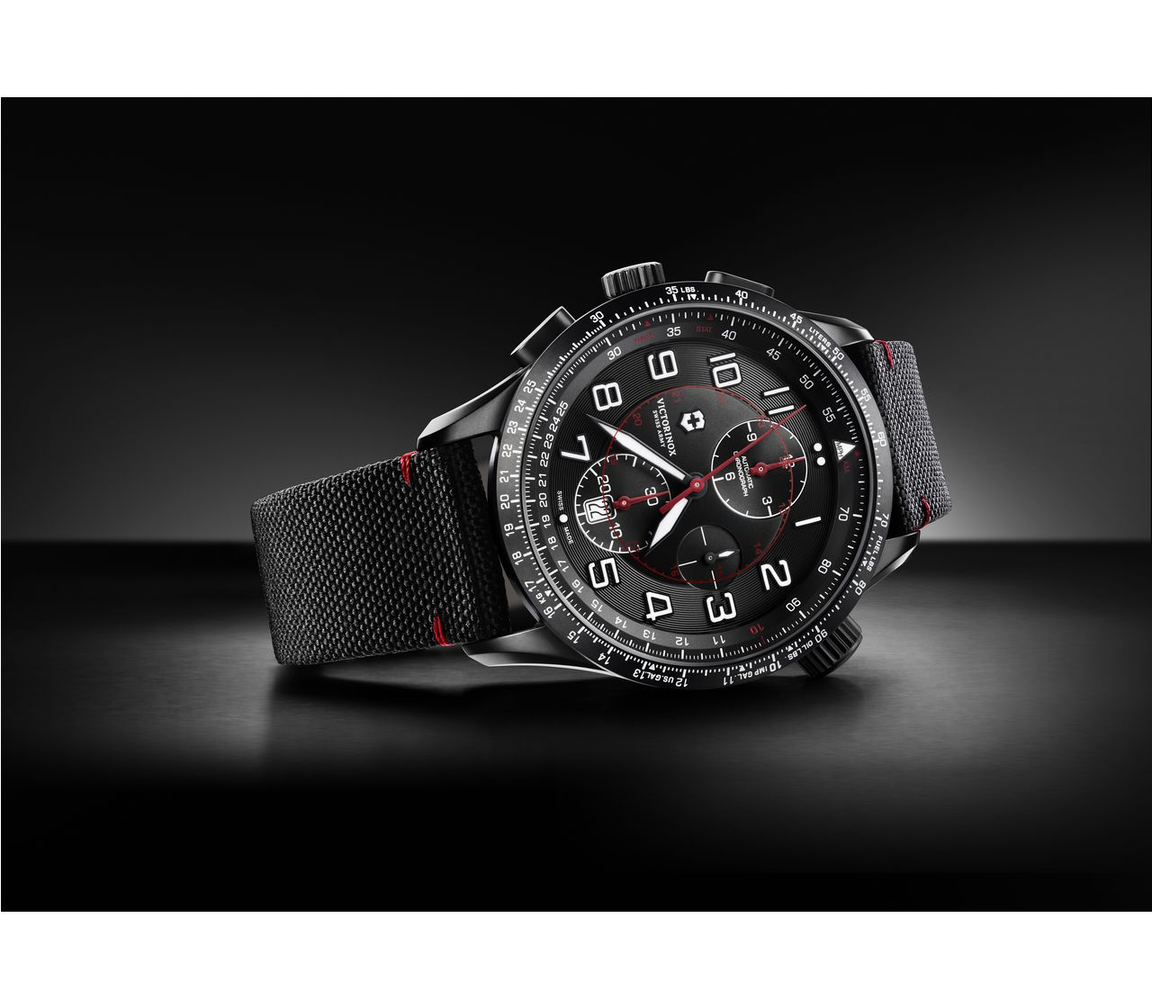 Victorinox Airboss Mach 9 Black Edition In Black 45 Mm