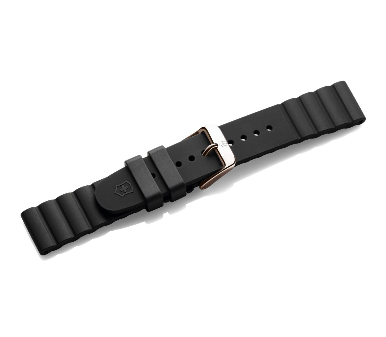 Black rubber strap with buckle-005490.1