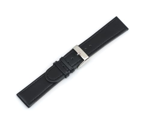 Infantry - Black Leather Strap with buckle - 22 mm-000284