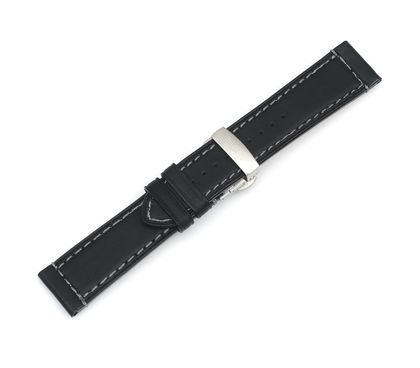 Airboss Mach 8 - Black Leather Strap with Buckle