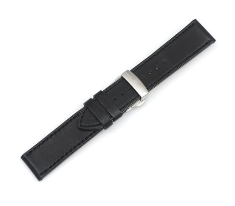 Ambassador - Black Leather Strap with Buckle-003352