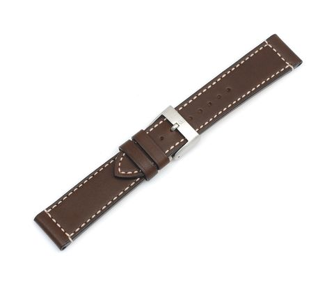 Brown leather strap with buckle-004097