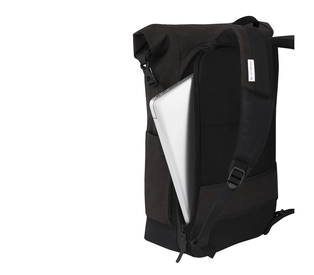 37665581f Victorinox Rolltop Laptop Backpack in black - 605319