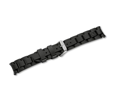 Black rubber strap with buckle-004229
