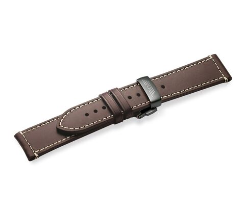 Brown leather strap with buckle-004446.2