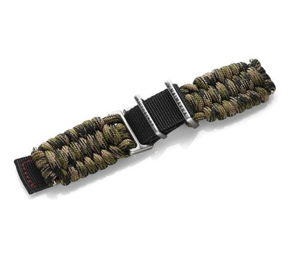 Green paracord strap with buckle