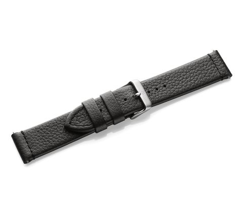Black leather strap with buckle-005310