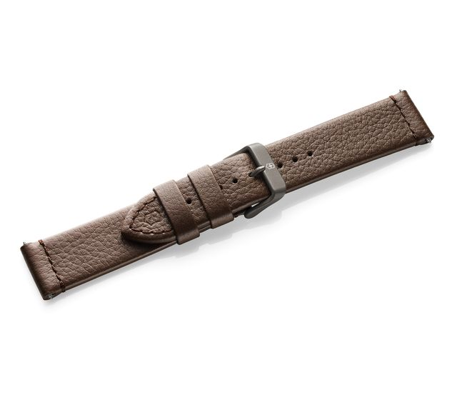 Brown leather strap with buckle-005311.1