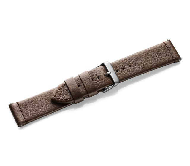 Brown leather strap with buckle-005311