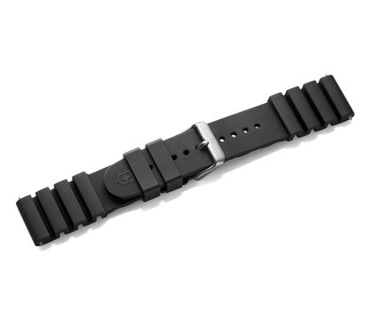 Black rubber strap with buckle