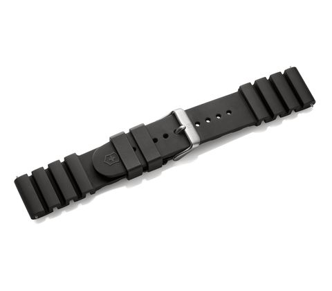 Black rubber strap with buckle-005327