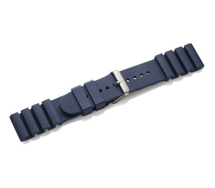 Blue rubber strap with buckle