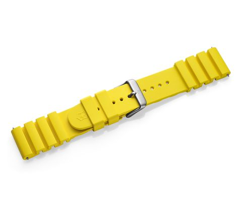 Yellow rubber strap with buckle-005329