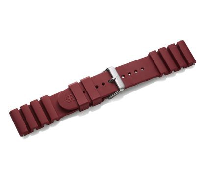 Red rubber strap with buckle