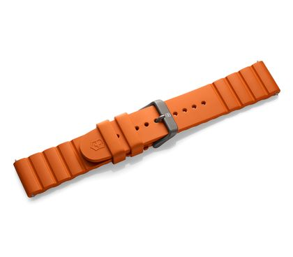Orange rubber strap with buckle
