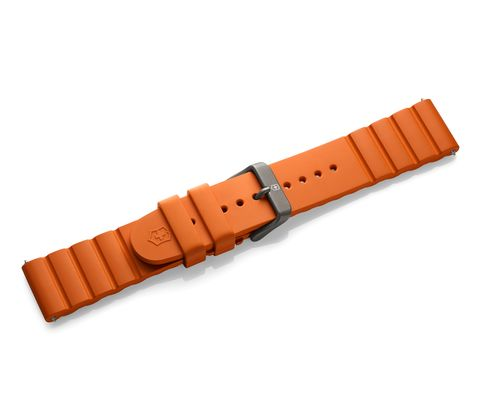 Orange rubber strap with buckle-005429