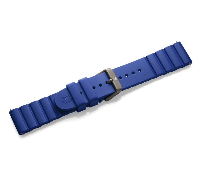 Blue rubber strap with buckle-005430