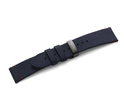Blue fabric strap with buckle