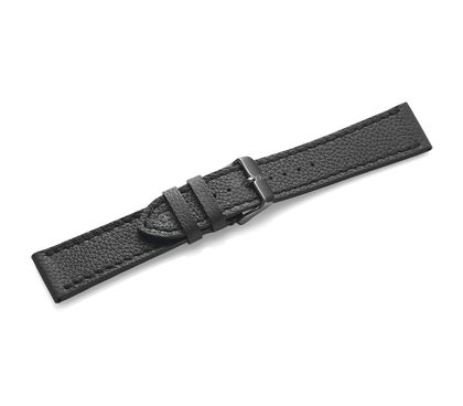 Black leather strap with buckle