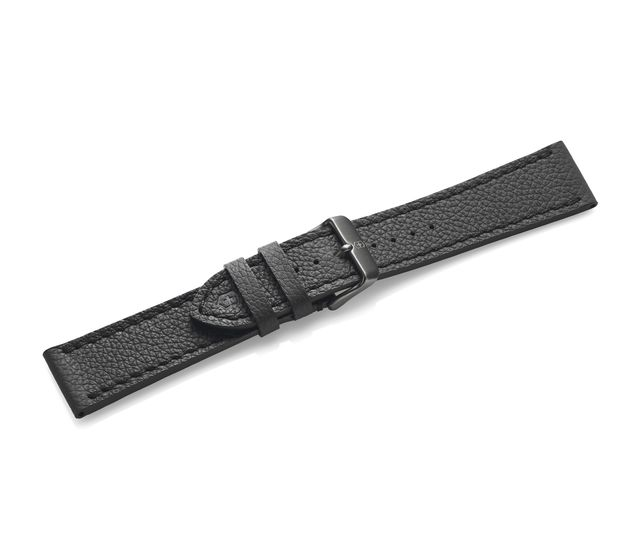 Black leather strap with buckle-005544