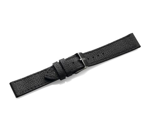 Black leather strap with buckle-005546