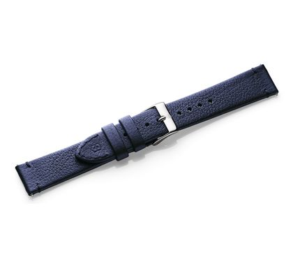Blue leather strap with buckle