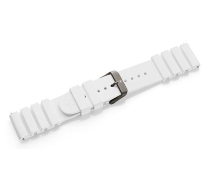White rubber strap with buckle