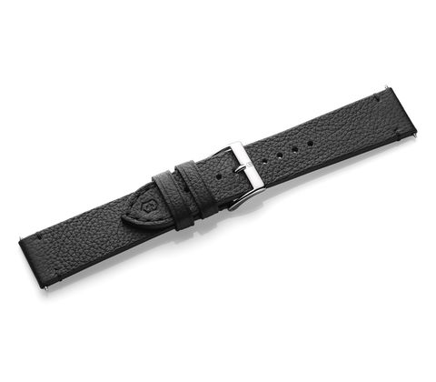 Black leather strap with buckle-005685