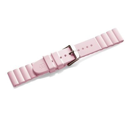 Pink rubber strap with buckle