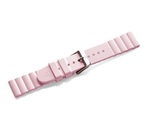 Pink rubber strap with buckle-005715