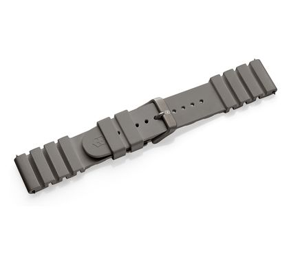 Grey rubber strap with buckle