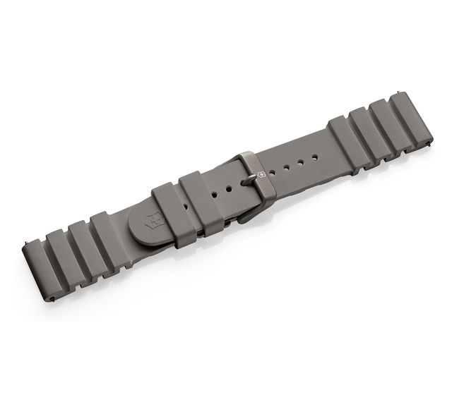 Grey rubber strap with buckle-005732