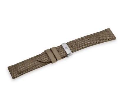 Brown leather strap with buckle