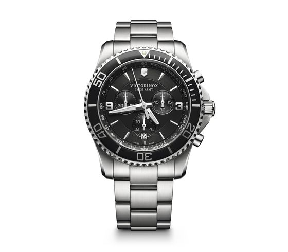 Victorinox maverick cronografo orologio subacqueo acciaio inossidabile 241695