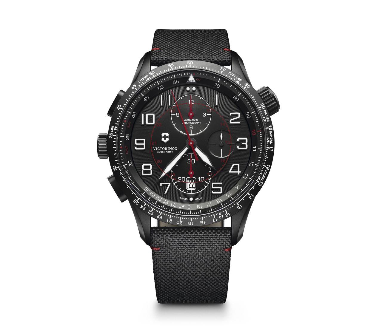 Victorinox Airboss Mach 9 Black Edition In Black 45 Mm