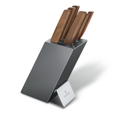 Swiss Modern Cutlery Block, 6 pieces