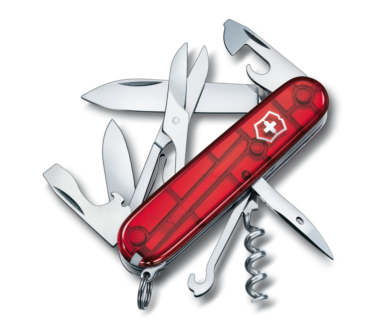 Victorinox Climber In Red Transparent 1 3703 T