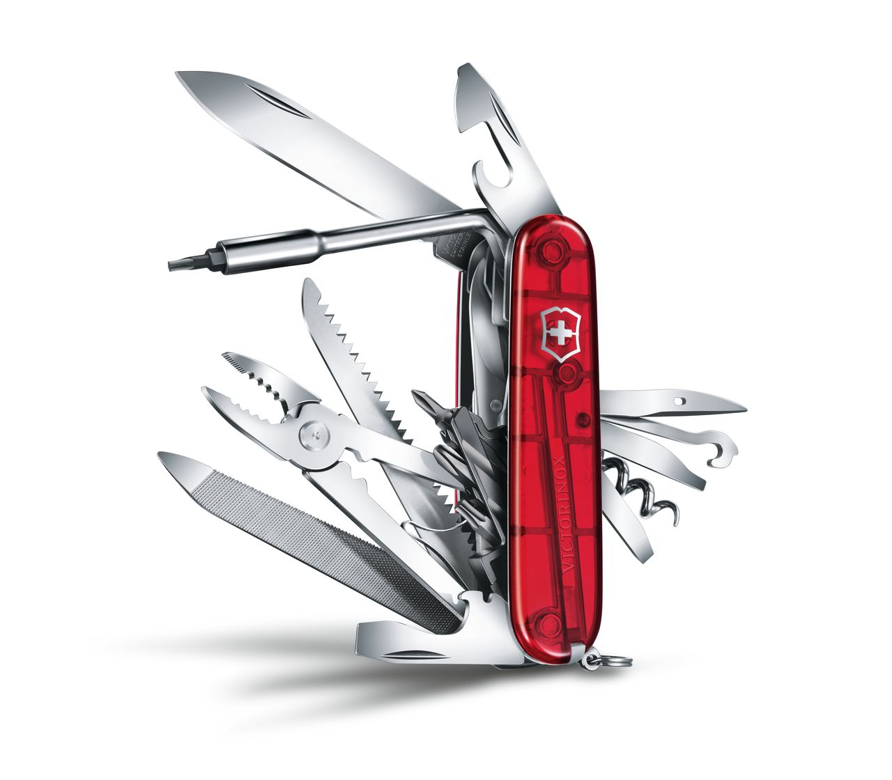 Victorinox Cybertool L In Red Transparent 1 7775 T