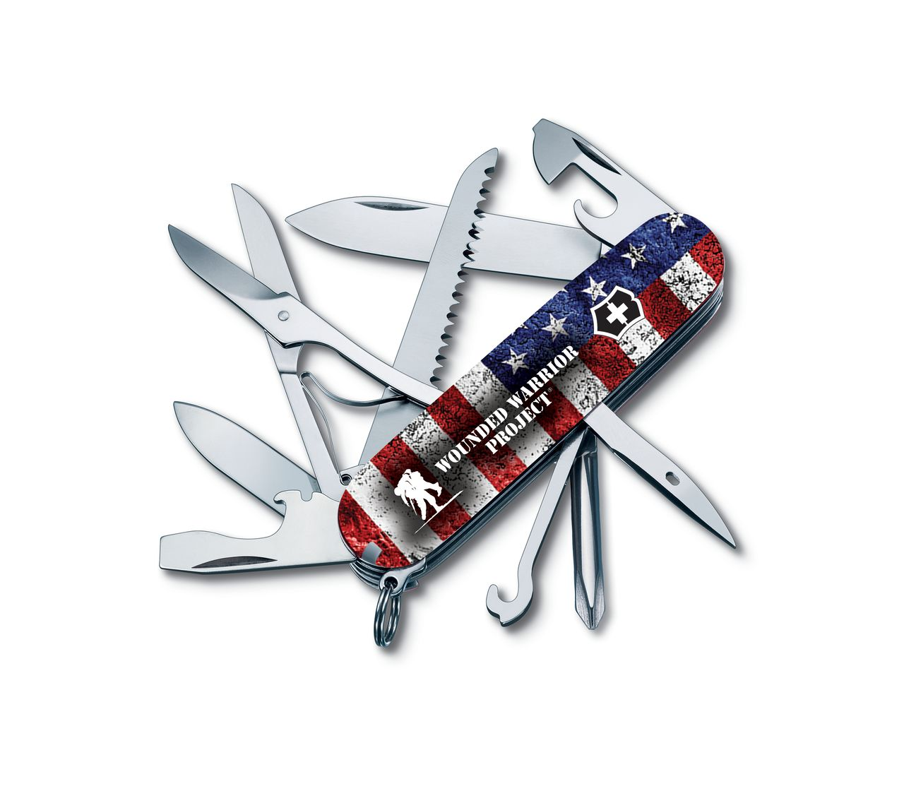 Victorinox Fieldmaster Wounded Warrior In Us Flag Print