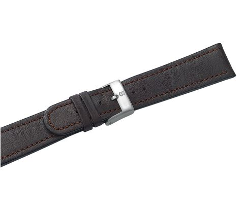 Brown leather strap with buckle-000285