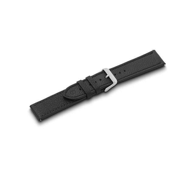 Leather strap black with buckle-005544.1