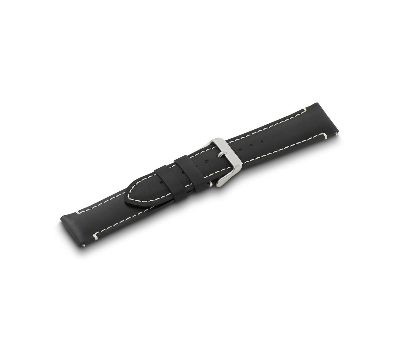 Leather strap black w/buckle-005939