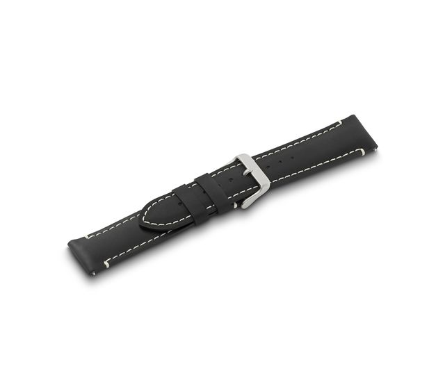 Black leather strap with buckle-005939