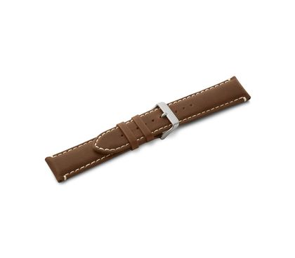 Leather strap brown with buckle