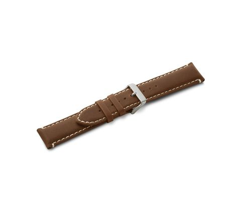 Leather strap brown with buckle-005945