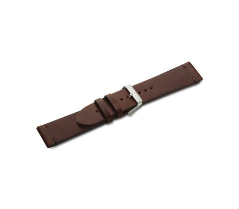 Brown leather strap with buckle-005946