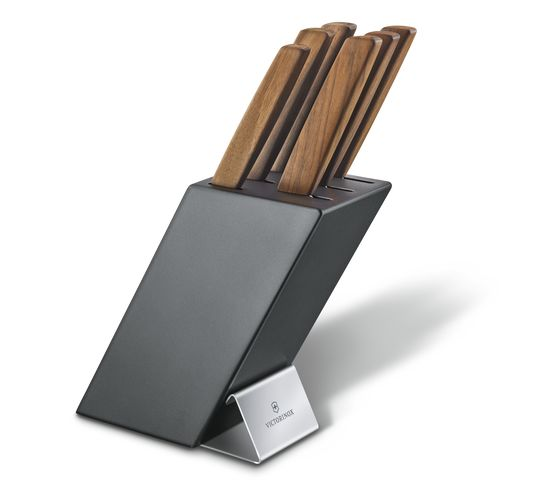Swiss Modern Knife Block, 6 Pieces