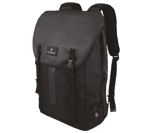 Flapover Drawstring Laptop Backpack-32389401