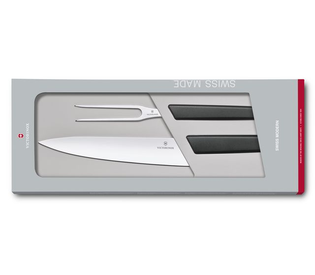 Swiss Modern Carving Set, 2 pieces-6.9093.21G