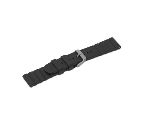 Black rubber strap with buckle-005104
